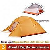 RuiPingRuiLaias Strandzelt Upgrade 1 2 3 Personen Ultra 20D Silikon-Double-Layer-Camping-Zelt mit Matte für Camping, Angeln, Picknick (Color : UP3 210T Polyester)