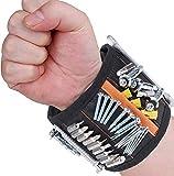 Flybiz Magnetisches Armband, Magnetarmband mit 15 leistungsstarken Magneten, Gadgets Geschenke für Halten Werkzeuge Schrauben Nägel Bohrernn, Geschenke für Männer, Handwerker, Vatertagsgeschenk