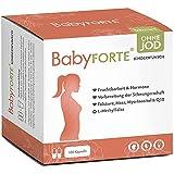 BABYFORTE® Kinderwunsch Vitamine ohne Jod - Vegan - 17 Nährstoffe - 180 Kapseln - Folsäure, Myo Inositol, Q10 - Vitamine Schwangerschaft ohne Jod
