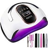 McNory 168W LED UV Lampe Nageltrockner für Gel Nagellack Auto-Sensor Aushärtelampe mit 4 Timer Einstellungen,mit Maniküre Werkzeuge Anfänger Set,Nagelwerkzeuge für Fingernagel und Zehennagel