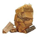 Netzbeutel mit Kordel 45x60cm | Starker Netzsack mit Kordelzug | 30L Netzbeutel für Brennholz | 25er-Pack