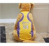 NAIDINISE Hunde Basketball Kleidung-Hund Basketball-Shirt, ein Hundetrikot zum Feiern von Basketballspielen, geeignet für alle kleinen und mittleren Hunde (Laker (Gelb), S)
