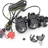 CPOWACE LED Nebelscheinwerfer Zusatzscheinwerfer + Kabelbaum + Schutzhülle für Motorrad R1200g