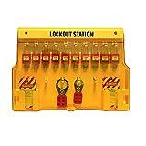 Wisamic Lockout Tagout Station mit Abdeckung: 10 Verschiedene Vorhängeschlösser 2 Lockout Schließer 24 Lockout Tags