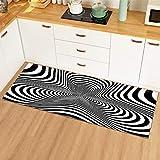 OPLJ Modernes 3D-Muster Dekoration Matte Badezimmer Home Fußmatte Eingang Schlafzimmer Küche Teppich Wohnzimmer Flur Boden Teppich A15 60x180