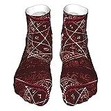 VJSDIUD Lässige Socken Ziegenschädel Unisex Baumwolle Bequeme Socken für die Heimarbeit Sportliche Outdoor-Aktivitäten