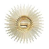 AZOI Dekorative Wandspiegel Sonne Dekoration Wandspiegel Spiegel Rund Goldene Deko Badspiegel Rund Verwendet In Bad, KüChe, Wohnzimmer, Schlafzimmer, Flur,Gold,60 * 60