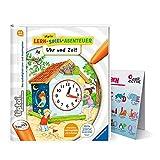 Collectix Ravensburger tiptoi Buch - Mein Lern-Spiel-Abenteuer | Uhr und Zeit + Kinder ABC Buchstaben Poster | 4-6 Jahre