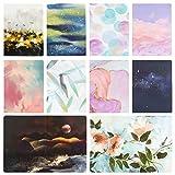 10-er Gemälden Grußkarten Geburtstagskarten Glückwunschkarte Grusskarte Geburtstag Blanko Kraft Polka für Muttertag