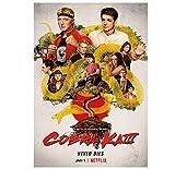 Cobra Kai Staffel 3 (2021) Pop Movie Poster Poster HD-Druck auf Leinwand Schlafzimmer Dekorationen - (24x36 Zoll) 60x90cm ohne Rahmen