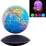 LULUTING Anti Gravity Magnetic Levitation Globe Weltkarte Globe Dekoration mit Multicolor LED-Licht-Büro-Tabellen Dekorieren Kreative Geburtstagsgeschenk