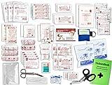 Komplett-Set Erste-Hilfe DIN/EN 13 169 PLUS 1 für Betriebe mit Notfallbeatmungshilfe & Verbandbuch incl.Alkoholtupfer +