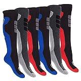 Footstar Herren Winter Kniestrümpfe (6 Paar), Warme Vollfrottee Socken mit Thermo Effekt - 43-46