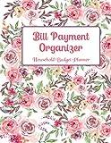 household budget planner: Simple Expense Tracker Bill Debt Organizer   Payments Checklist Log Book Money Keeper & Budgeting Financial Planning Workbook Journal Notebook Flowers woter Color