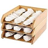 ZOYLINK Küchen-serviertablett Bambus 3pcs Einfarbig Natürlich Vielseitig Rechteckig Multifunktionale Lebensmittelhalter Platte Für Zu Hause