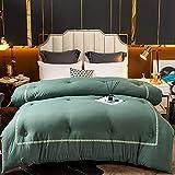 Cactuso Winter Kinderbettdecke,Sommer Ist Eine Solide Vier-Saison-Quilt-HotelqualitäT-GrüN_200x230 cm 2500g.