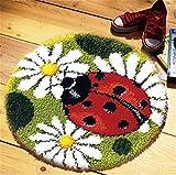 8 Modell Marienkäfer Knüpfteppich Formteppich für Kinder und Erwachsene zum Selber Knüpfen Teppich Latch Hook Kit child Rug Animal 025 50 by 40