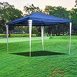 wolketon Pavillon 3x3m Wasserdicht Partyzelt Ohne Seitenteile für Party Garten Markt Camping Festival als Unterstand Gartenpavillon Hochwertiges Zelt B