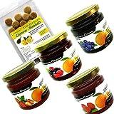 Xylit Fruchtaufstriche im Bonus-Set Nr. 2'Orangenvariationen' (4 Gläser), 1 Beutel Xylit-Bonbons Citrone-Baobab im Wert von 4,99 Euro gratis