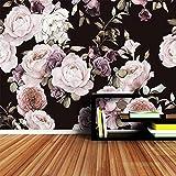 3D Fototapete Wandbild Handgemalte Schwarz Weiß Rose Pfingstrose Blume Wandbild Wohnzimmer Wohnkultur Malerei Tapeten