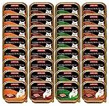 animonda Vom Feinsten Adult Katzenfutter, Nassfutter für ausgewachsene Katzen, Feinschmecker Vielfalt mit Geflügel, 32 x 100 g