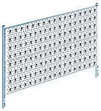 Element System Werkzeugwand aus Metall, Heimwerker-Grundset inklusive Schrauben und Dübel, Lochwand