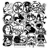 YMSD [120 Stück] Schwarz und Weiß PVC Cool Wasserdicht Graffiti Decals VSCO Mädchen Aufkleber Niedliche Aufkleber für Kinder Geschenke