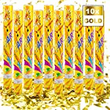 Konfetti-Kanone Konfetti-Shooter Party Popper Konfettikanone - XL 60 cm Gold - 10 Set