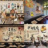 Retro Peking Opera Charaktere Chinesisches Hot Pot Restaurant Essen Retro Hintergrundwand Hotel Restaurant Essen Benutzerdefinierte Wandbild Tapete-200 * 140
