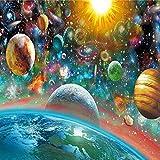 diy5D Kreuzstich mit Sternen und Weltraumkarte in verschiedenen Farben, 30x40CM