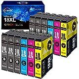 Uniwork Kompatibel Tintenpatrone als Ersatz für Epson 18XL für Expression Home XP-322 XP-215 XP-205 XP-225 XP-305 XP-325 XP-422 XP-405 XP-415 XP-425 XP-315 XP-312 XP-425 XP-412 XP-202 XP-102,10er-Pack