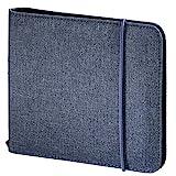 Hama CD-Tasche 'Up to Fashion' (Mappe zur Aufbewahrung von 24 CDs/DVDs/Blue-rays, antistatische Einschub-Hüllen) blau