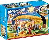 PLAYMOBIL Christmas 9494 Lichterbogen 'Weihnachtsgkrippe' mit ausklappbaren Standfüßen, Ab 4 J