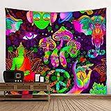 KHKJ Indien Mandala Wandteppich Wandbehang Boho Dekor Wandtuch Wandteppiche Psychedelische Hippie Nacht Mond Wandteppich A1 200x150cm