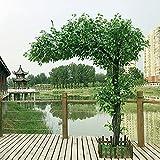 DWXN Große künstliche Banyan-Baum-Innendekoration-Baum-künstliche große Baumhotel-Grünpflanzen Boden Wohnzimmerpflanzen H180*L170CM