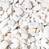 MGS SHOP Zierkies Marmorkies ATTIKA gebrochen Marmor Splitt - Farbe wählbar (Weiß-Pastell)