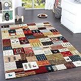 Paco Home Designer Teppiche Modern Loribaft Nomaden Teppich Terra Rot Grün Multicolour, Grösse:160x230