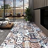 PVC-Laminat-Dielen Selbstklebend 5,11 m² Mono-Muster,Wasserfest, Schwer Entflammbar, Schimmelbest?ndig, für Küche, Bad, Flur oder Wohnzimmer, (Mehrere Stile sind verfügbar)