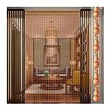 Perlenvorhang Türvorhang Holzperlen Vorhänge Tür-Fadenvorhänge, Natürlicher Pfirsichholzperlenvorhang, Trennwanddekoration, Leise Langlebig uUnd Leicht, Mehrere Größen Erhältlich PENGFEI