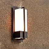 Combuh E27 Wandleuchte Außenlampe IP65 Wasserdichte Außenbeleuchtung Wetterfest Aussenleuchte Aluminium Schwarz Aussenleuchten für Balkon,Garten,die Terrasse,Veranda,Hof-Lampe