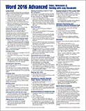 Microsoft Word 2016 Advanced Quick Reference Guide - Windows Version (Cheat Sheet of Instructions, Tips & Shortcuts - Laminated Card)