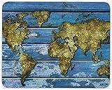 Mauspad, Weltkarte Puzzle Mauspad Pad - Reise Puzzle Geographie Computer Geschenk