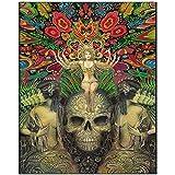 Wandbild Mind Garden Mini Altar Kunst Fine Art Print Heidnische Mythologie Psychedelic Bohemian Gypsy Witch Goddess Wandkunst Poster-50X70Cmx1 No Frame