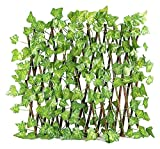 MSKW Teleskopzaun, hölzerne erweiterte Mesh-Pflanzenzaun, künstlicher Gartenzaun im Freien, Mesh-Zaun für Gartenzaun oder Wanddekoration 028 (Color : A, Size : 70CM)