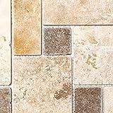Mosaik Fliese Travertin Naturstein beige braun Mini Pattern Travertin für BODEN WAND BAD WC DUSCHE KÜCHE FLIESENSPIEGEL THEKENVERKLEIDUNG BADEWANNENVERKLEIDUNG Mosaikmatte Mosaikp