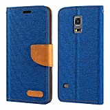 Samsung Galaxy S5 Mini Hülle, Oxford Leder Wallet Case mit Soft TPU Back Cover Magnet Flip Case für Samsung Galaxy S5 Mini