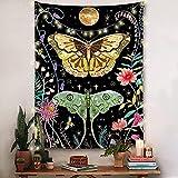CYYyang Wandteppich Tapestry Wanddeko für Kinderzimmer Wohnzimmer Schlafzimmer auch als Yogamatte Hängende Stoffkunstwand der Schmetterlingsserie