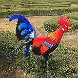 Hahn Windmühle Garten Hof Farm Dekor Rostalgie Huhn Dekoration Tierfigur Gartenstecker Keramik Figur Handwerk Frühlingsdekorationen für zu Hause Outdoor Hinterhof Statue Chicken Yard Gartendek