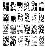 Zeichenschablonen-Set, Tagebuch, Zeichnen, Tagebuch, Scrapbook, Basteln, Zeichnen, Werkzeuge, 24 Stück