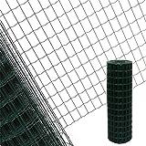 Estexo Gartenzaun 1,0x10 M Maschendraht Gitterzaun Maschung 7,5x5 cm Schweißgitter Zaun